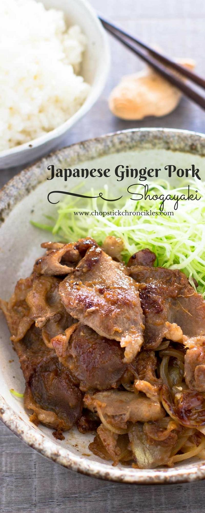 Ginger pork Shogayakai