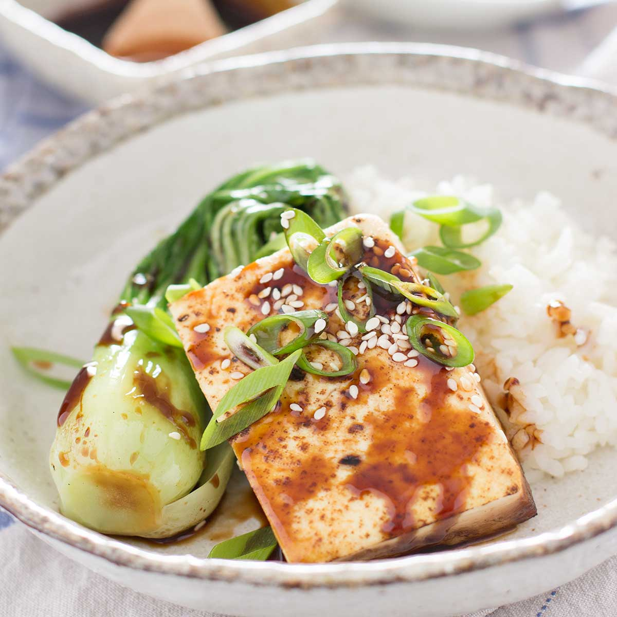Protein-Packed Japanese Tofu Steak