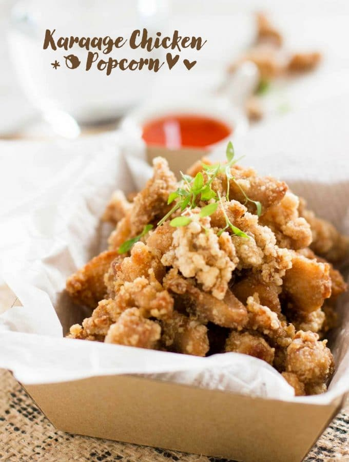 Crispy Karaage Chicken Popcorn