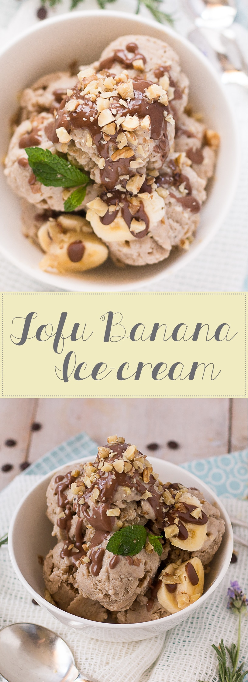 Tofu Banana Ice-cream collage