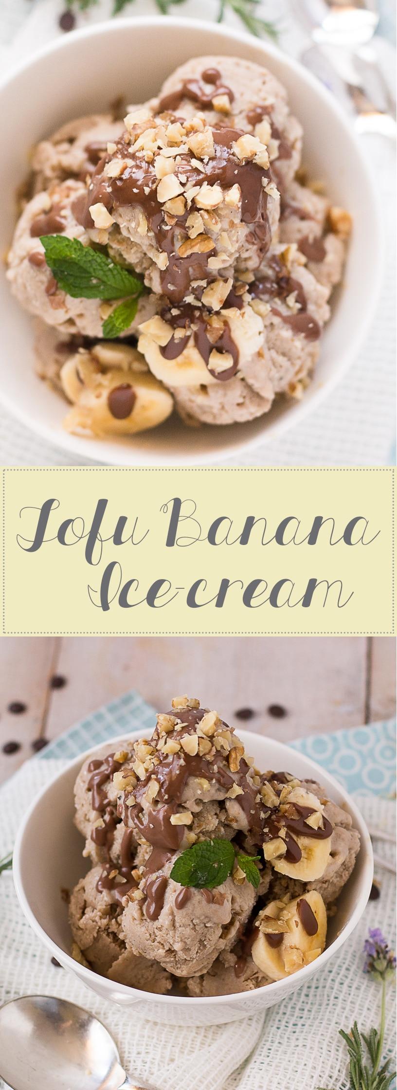 Tofu Banana Ice-cream collage