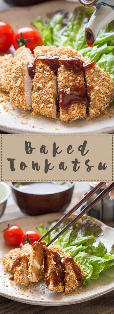 Baked Tonkatsu (Japanese Panko Crumbed Pork Cutlet)