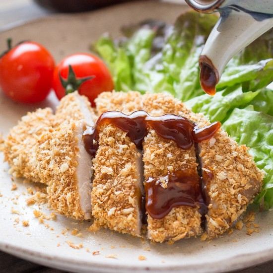 Baked Tonkatsu (Japanese Panko Crumbed Pork Cutlet) | Chopstick ...