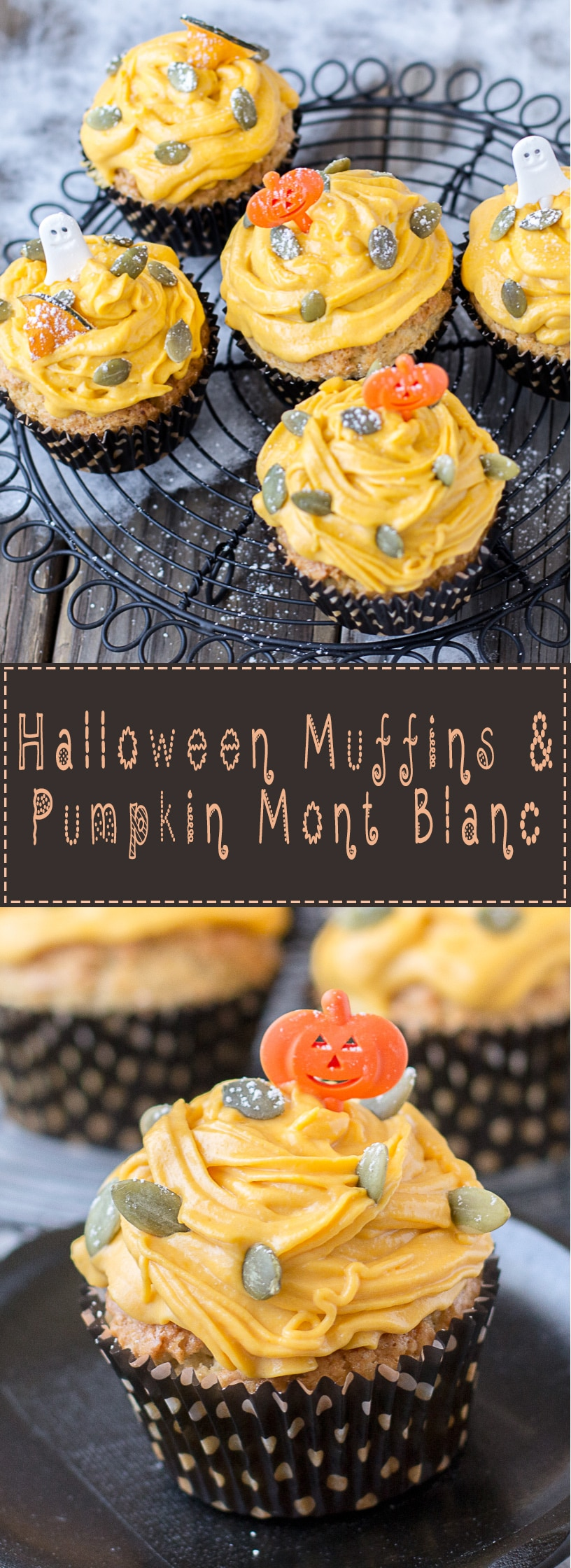 Halloween-Muffins-with-Japanese-Pumpkin-Mont-Blanc-Topping