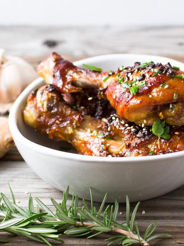 Oven-Baked Char Siu Flavoured Chicken Drumsticks