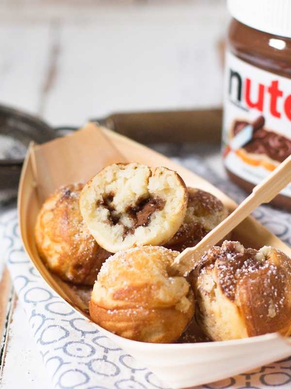 Dessert Takoyaki Nutella filled pancake pops