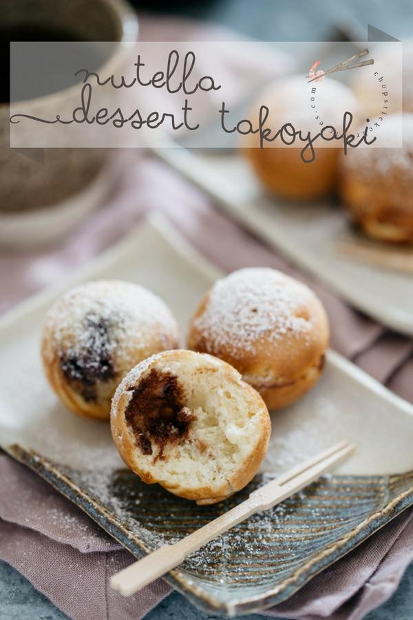 Nutella dessert Takoyaki #dessert takoyaki, #Nutella dessert