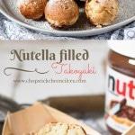 Nutella filled dessert Takoyaki