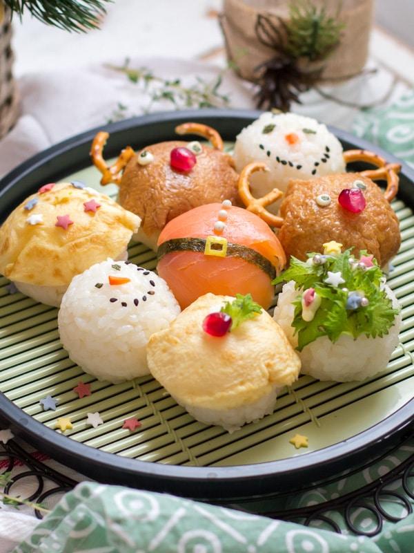 Christmas Sushi Balls