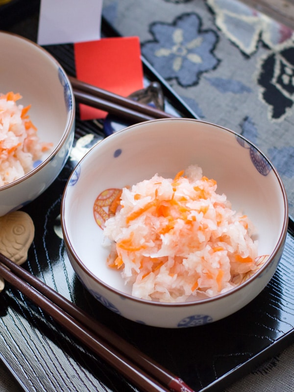 Kouhaku Namasu- Carrot & Daikon Vinegared Salad
