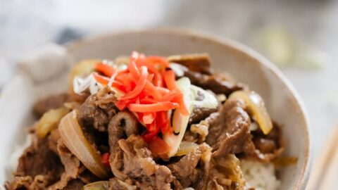 Gyudon Japanese Beef Bowls