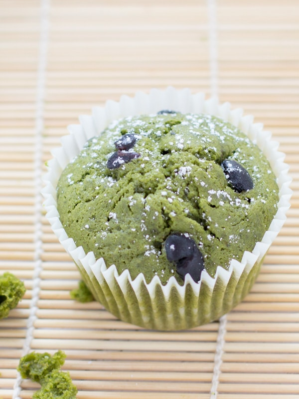 Matcha Green Tea Muffins with Kuromame