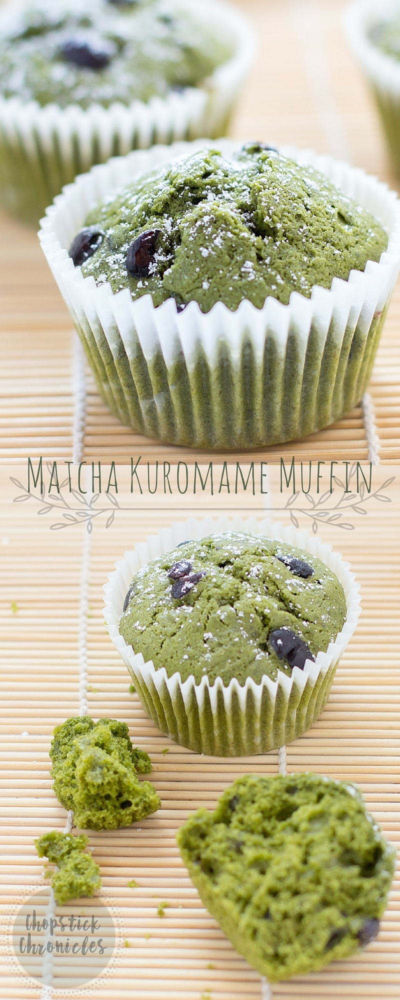 Matcha Kuromame Muffins