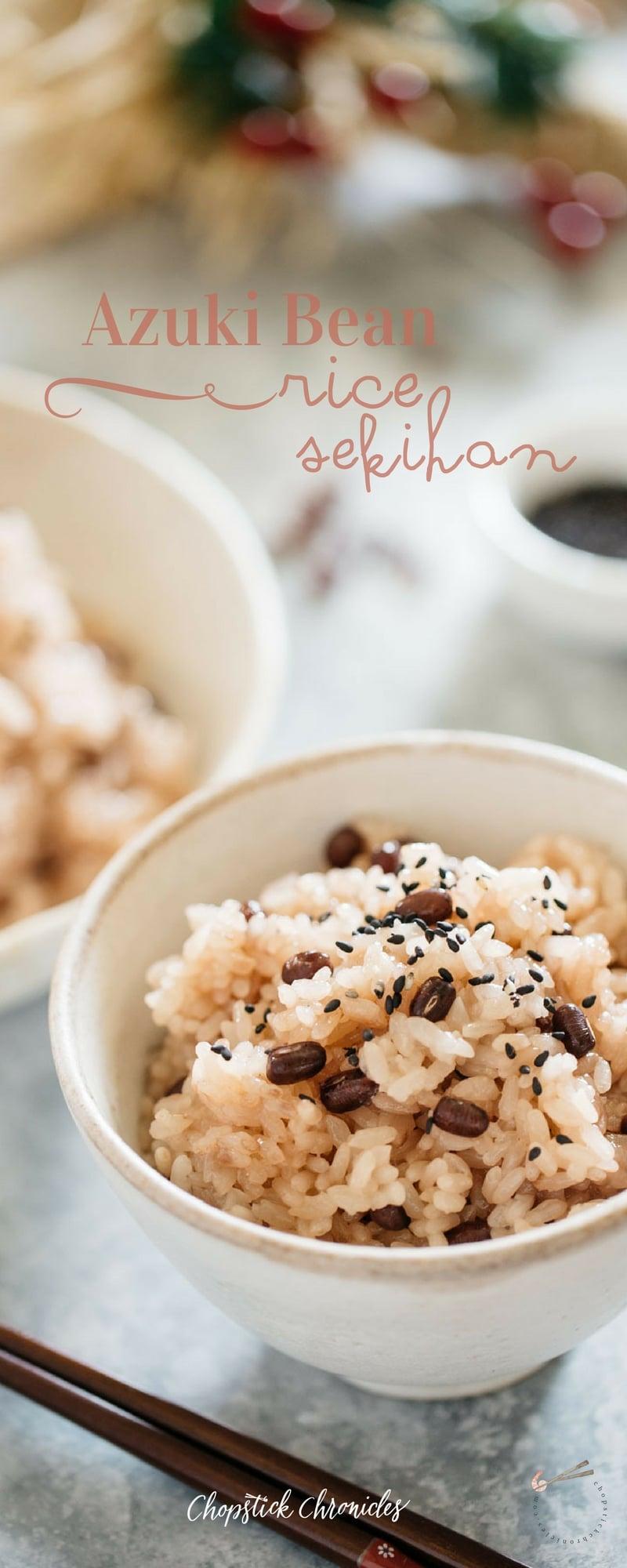 Sekihan Azuki bean rice