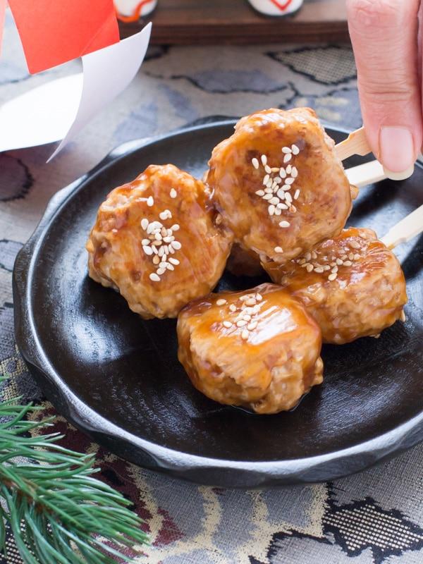 Tsukune Dango- Chicken Meatball Skewers