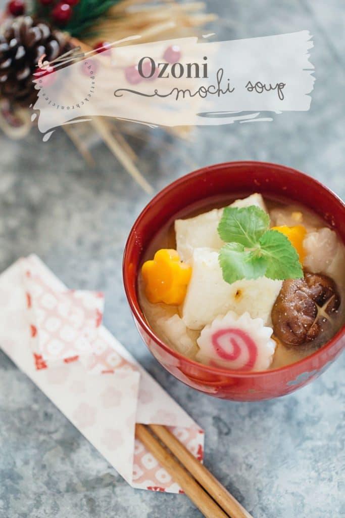 Ozoni mochi soup Kansai