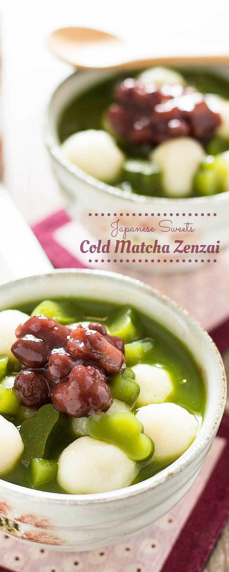 Cold Matcha Zenzai