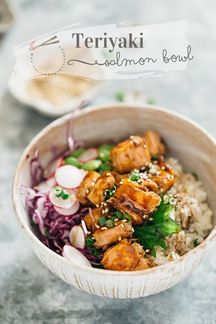 15 minute Teriyaki salmon rice bowls