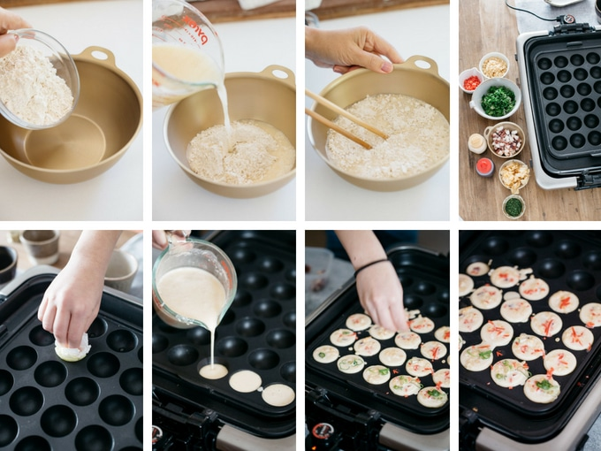 the second 8 process of making Takoyaki