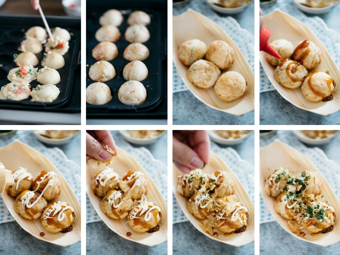 the third 8 process of making takoyaki