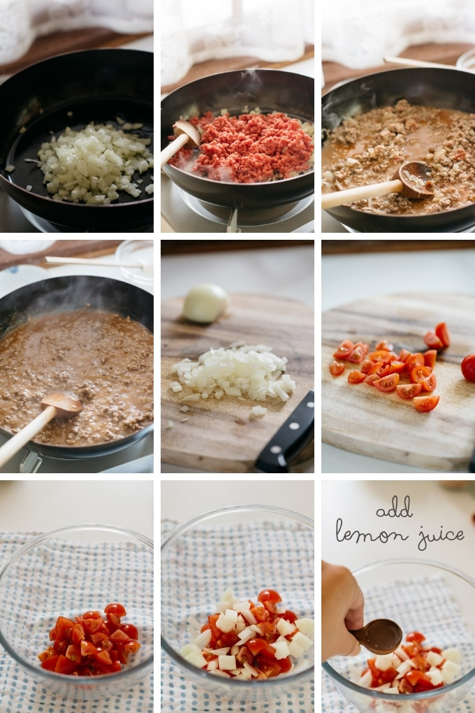 9 photos showing how to make taco beef in 9 photos