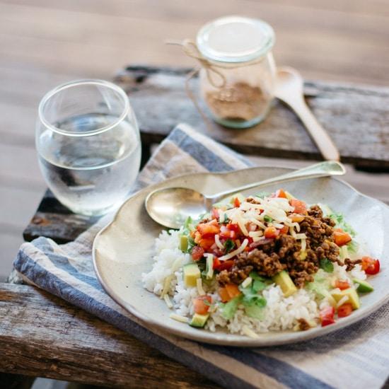 Okinawa Taco Rice 1x1