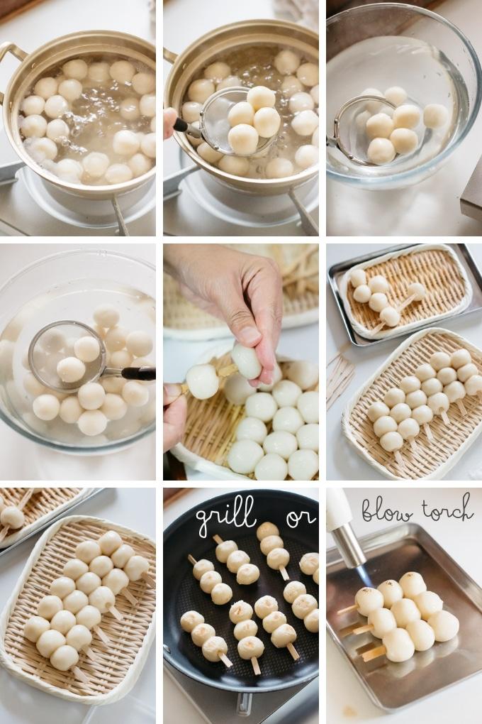 How to cook mitarashi dango dumplings in 9 photos