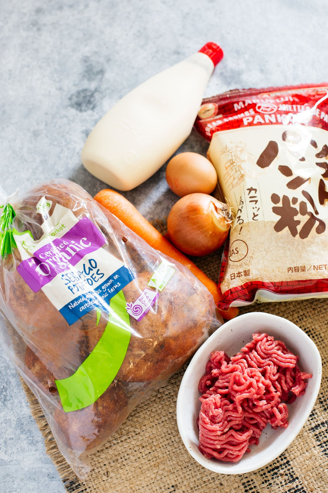 Japanese potato croquettes ingredients