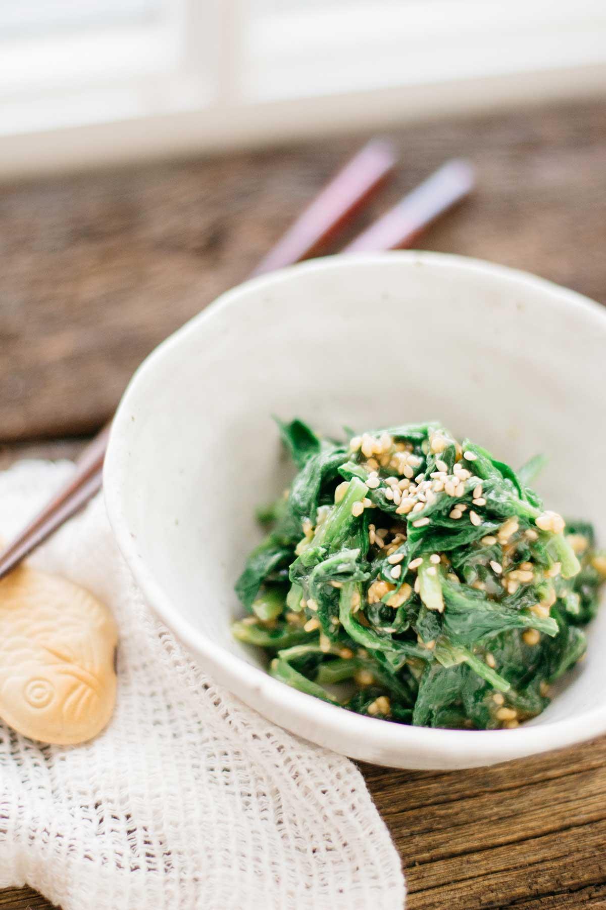 Spinach Gomaae