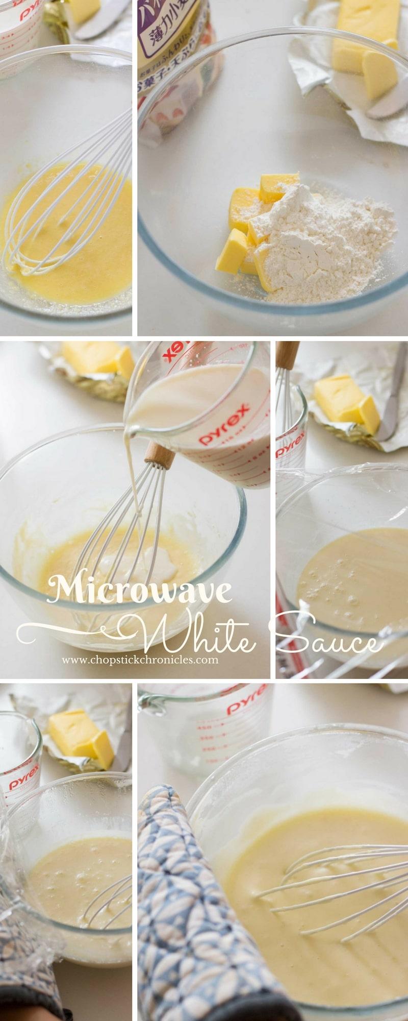 microwave white sauce