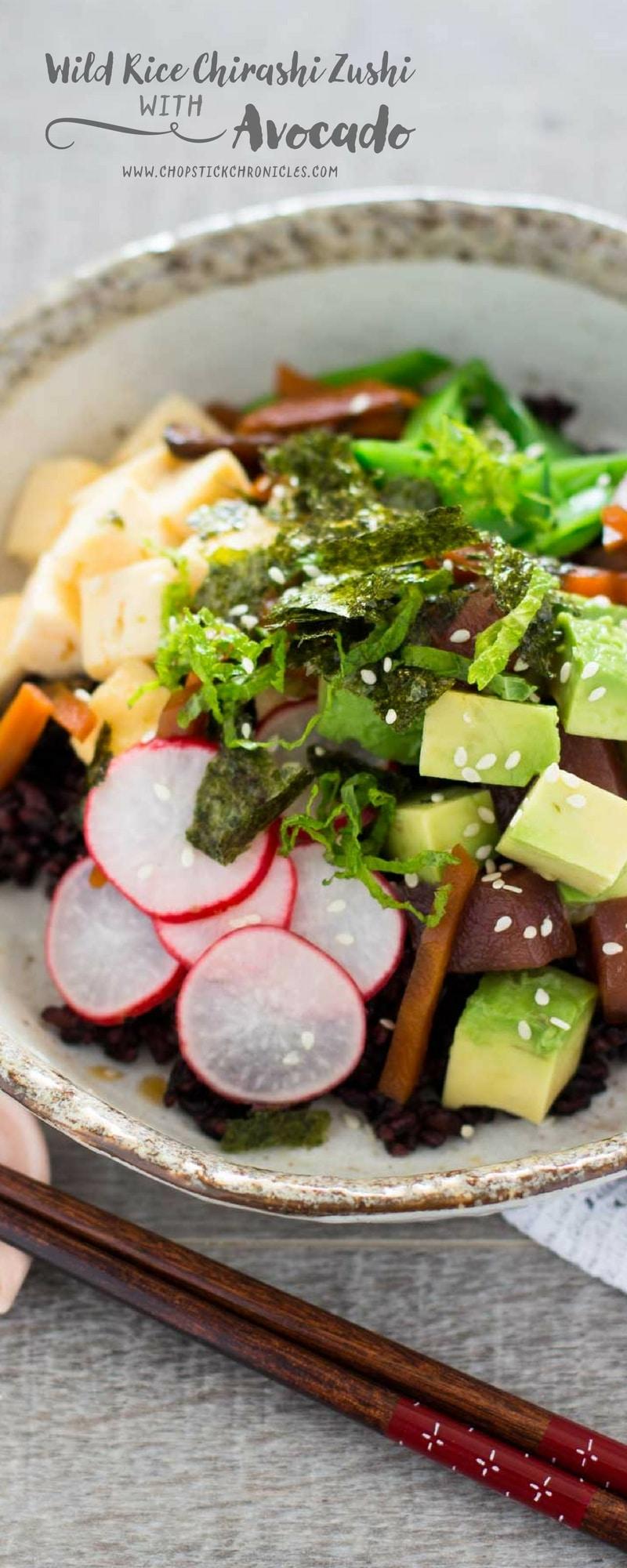 Wild Rice Chirashizushi with Australian avocado