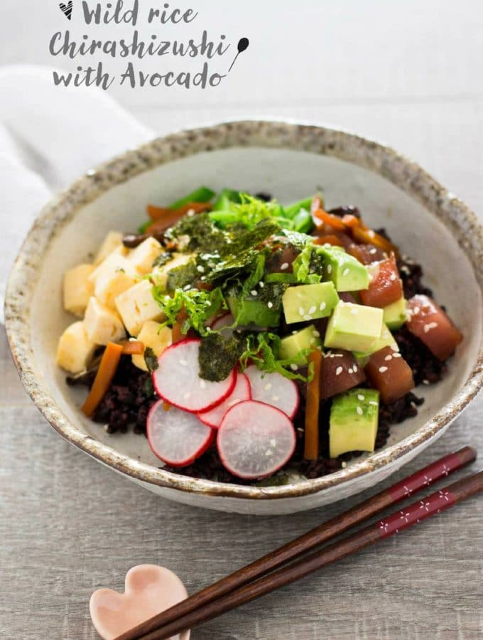 Wild Rice Chirashizushi with Australian avocado