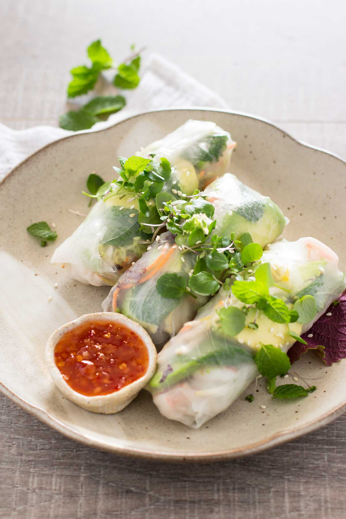 Japanese rice paper roll