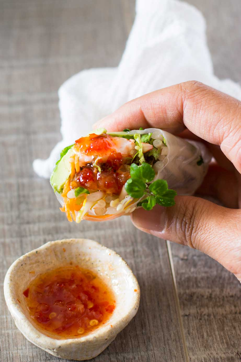 Japanese rice paper rolls