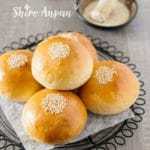 Anpan with sweet white bean paste