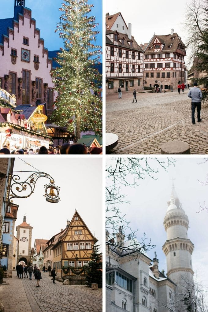 4 Photos of Frankfurt, Rothenburg au de bar and Fussen