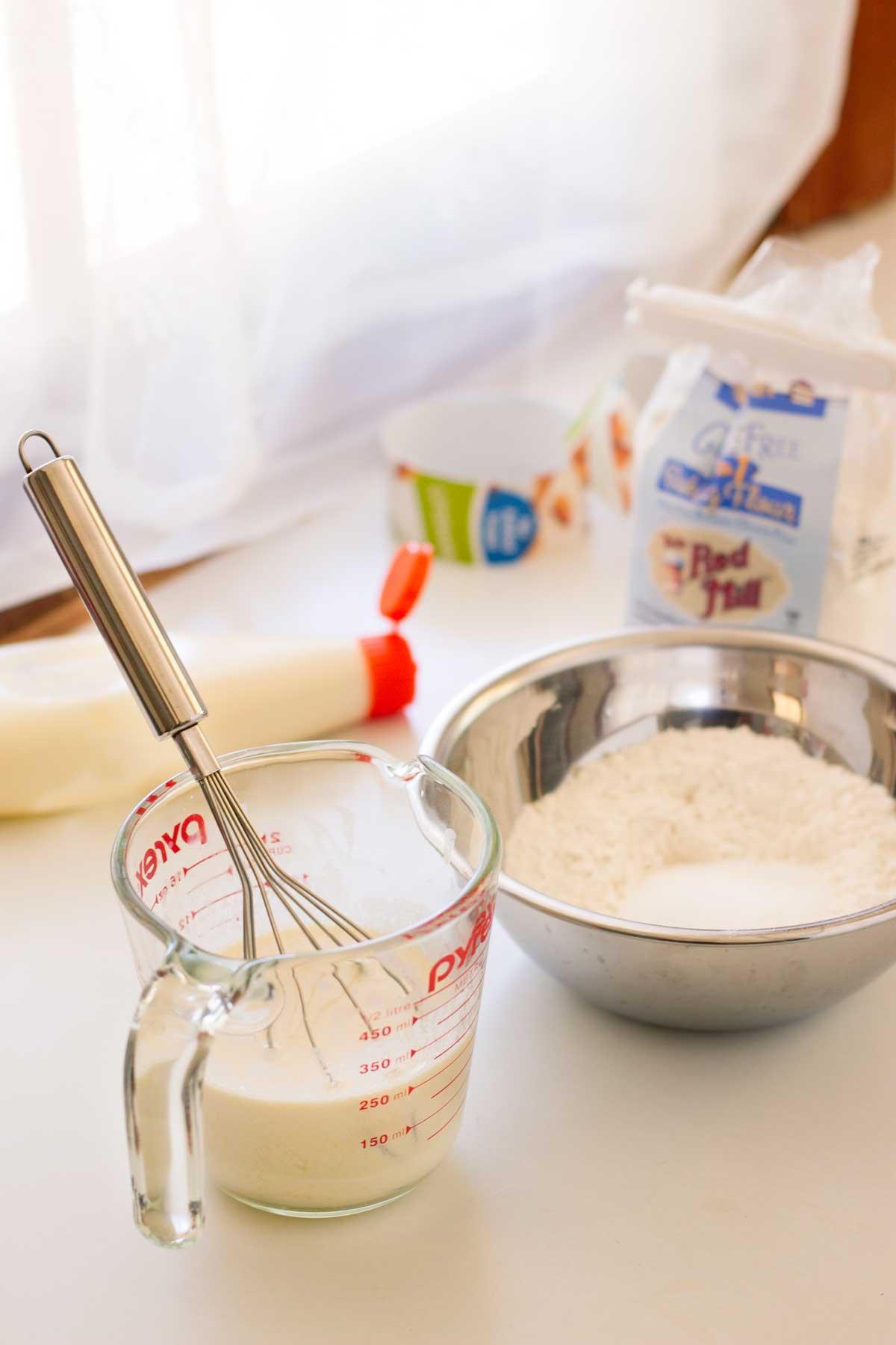 gluten free Fluffy Japanese pancakes