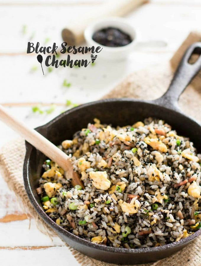 Black Sesame Chahan 黒胡麻チャーハン