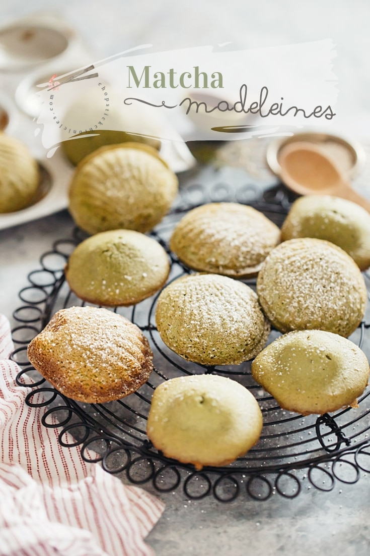 Matcha madeleines recipe that are very easy to make and a delicious French sweet that Japanese people love, with step by step photos.