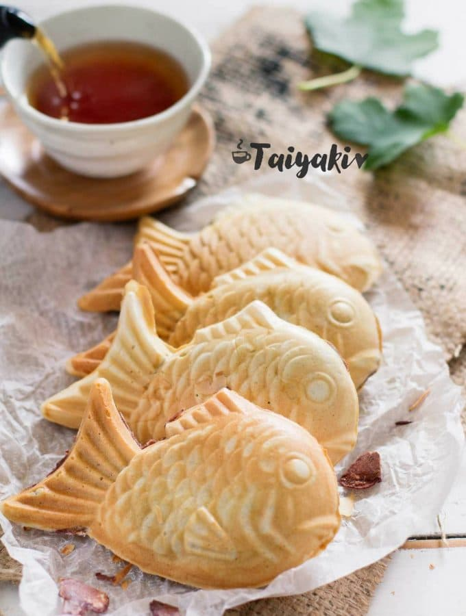 Taiyaki Japanese fish shaped waffle