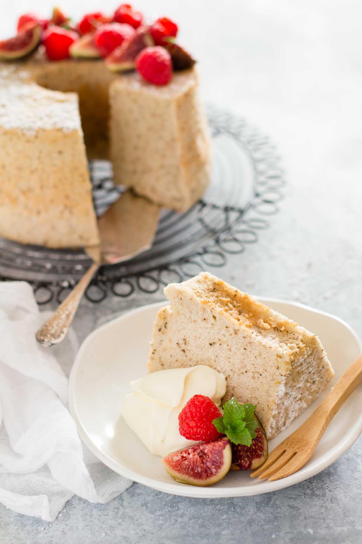 Hojicha flavoured chiffon cake