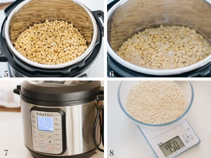 cooking soybeans with insta pot