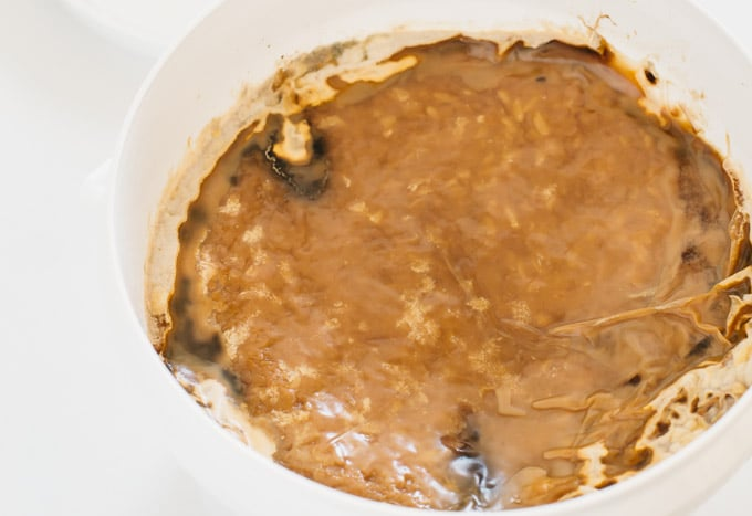 miso in a vat with mold grow