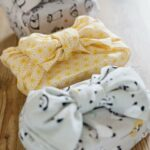 three bento boxes wrapped up with Japanese hand towel