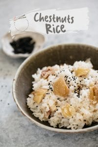 #Cook chestnuts, #Chestnuts rice