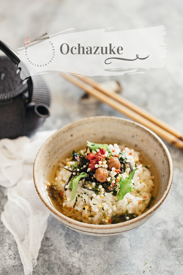 Ochazuke is one of the most simple traditional Japanese dishes. Good quality Japanese rice, topping variations, Yakumi flavour make delicious Ochazuke