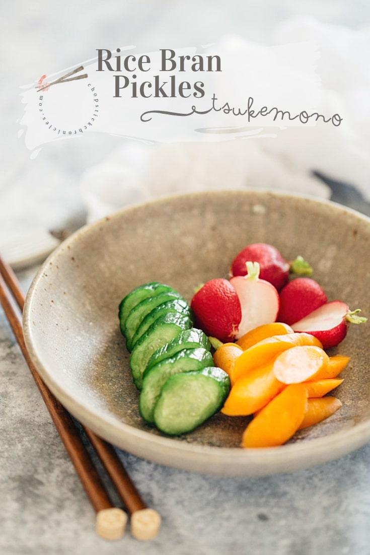 Tsukemono-Nukazuke Japanese Rice Bran Pickles