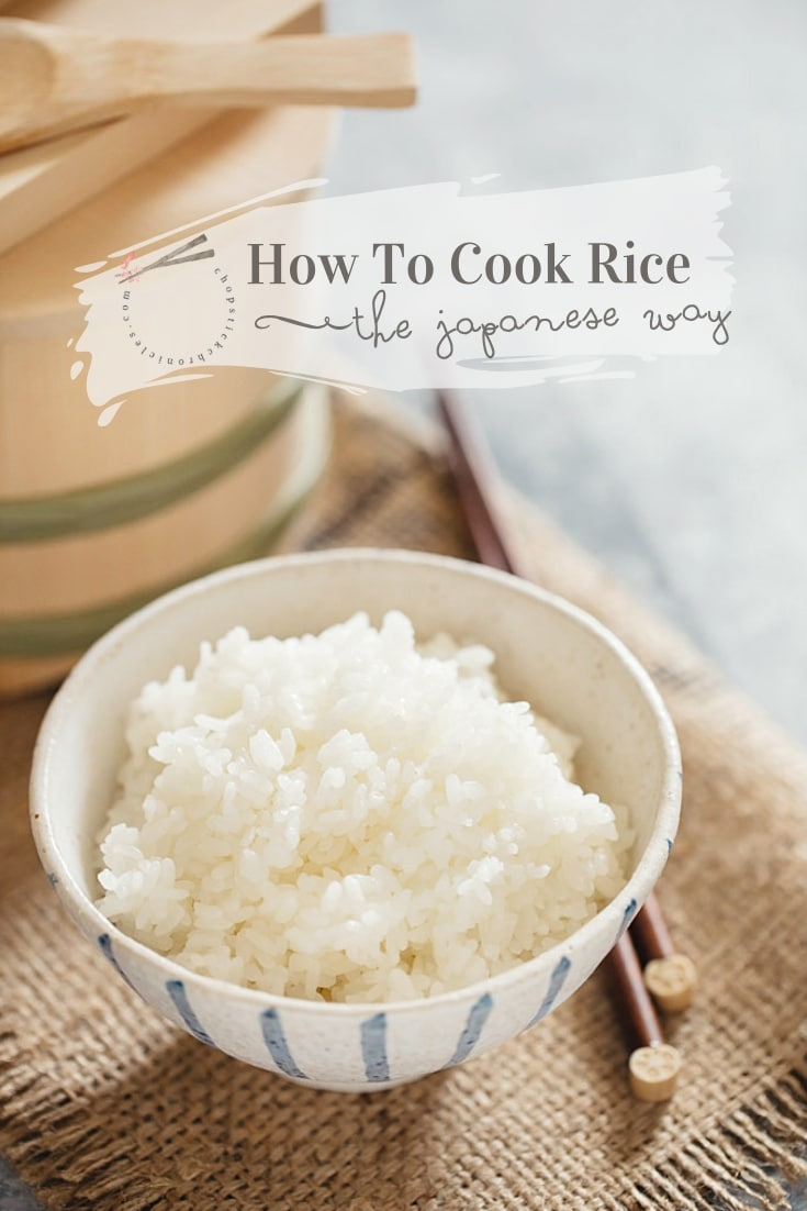 How to cook absolutely perfect Japanese plain steamed rice, the Japanese way. Instructions for cooking with and without a rice cooker.