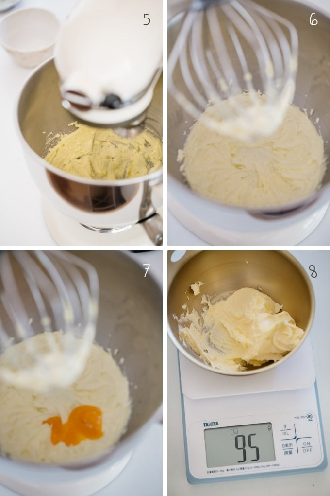 the second 4 stpes of making pinwheel cookies in 4 photos