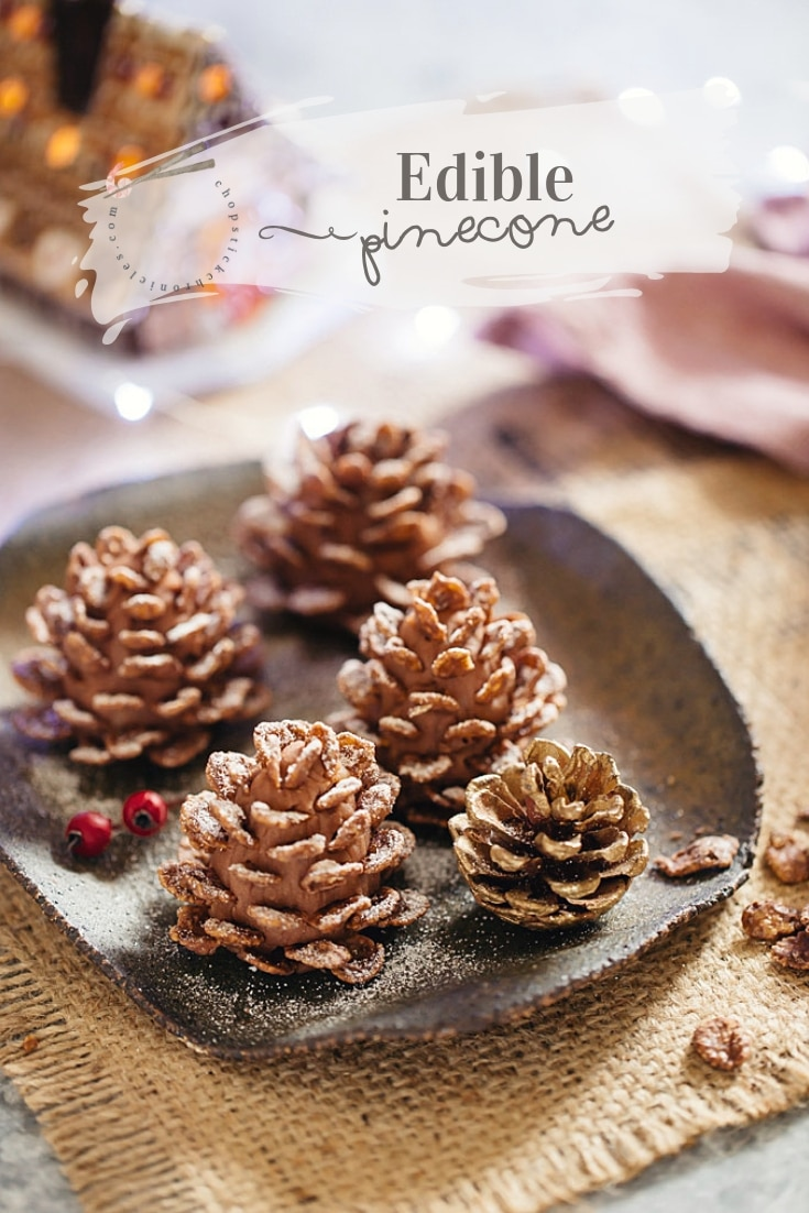 Christmas Sweets-Edible Pine Cones #Christmas sweets, #edible Pine cones